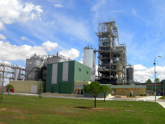 Instalaciones de la planta demo W2B de Abengoa Bionergía en Babilafuente (Salamanca).